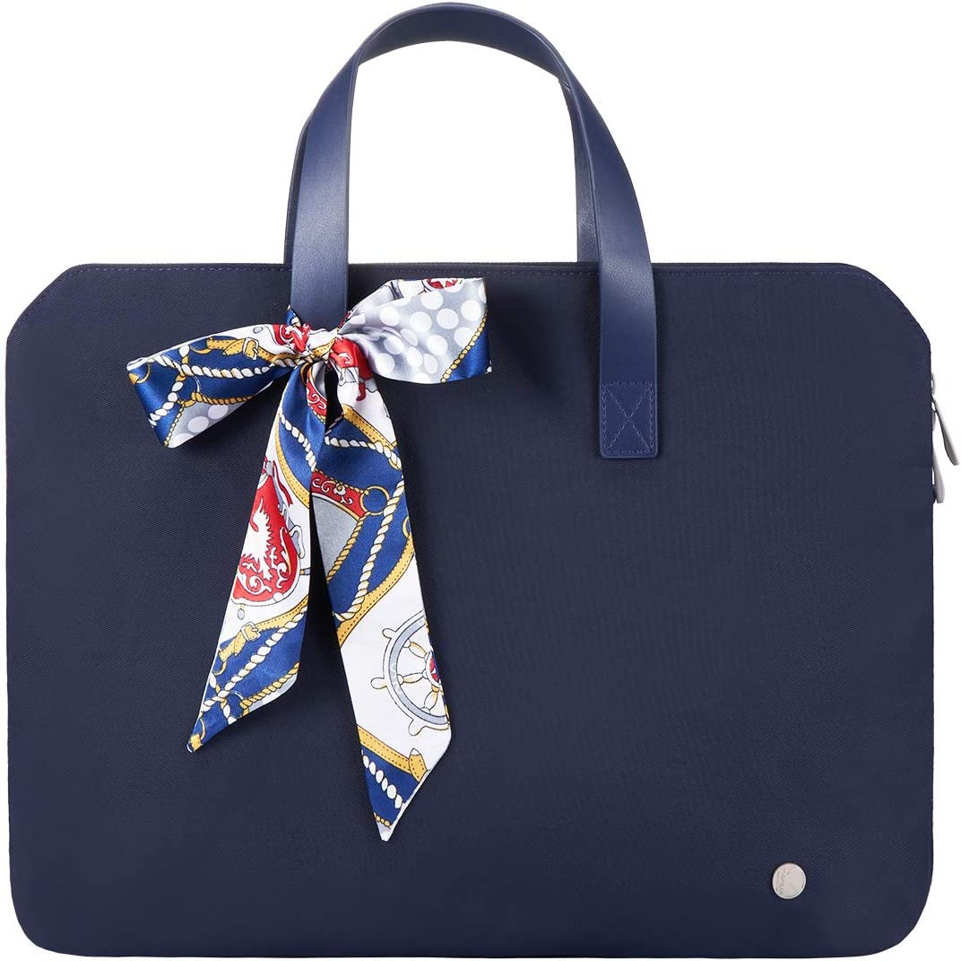 Kamlui Laptop Bag 14 Inch - for Women Waterproof Laptop Sleeves Shoulder Messenger Computer Tote Case,for MacBook Air Pro HP Dell (Blue)