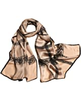 Ysiop Womens 100% Silk Scarves Lightweight Sunscreen Shawls and Beach Wraps