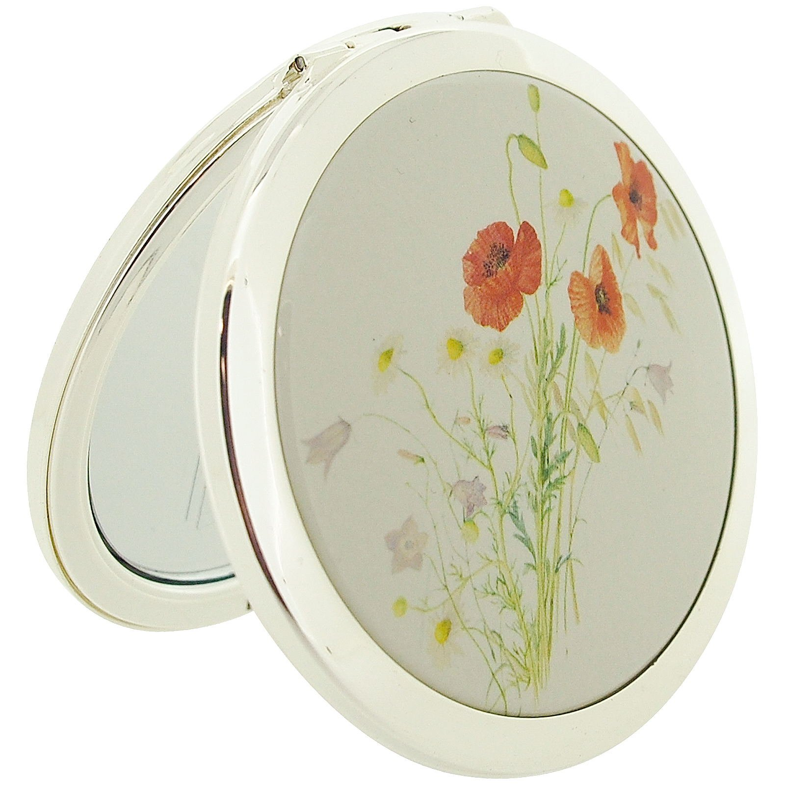Stratton Compact Mirror Ladies Heritage Collection Poppy Design 3x Magnification Pocket Mirror ST1147