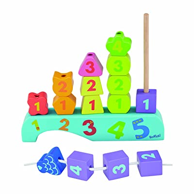 Boikido Wooden Stacking Town: Toys & Games