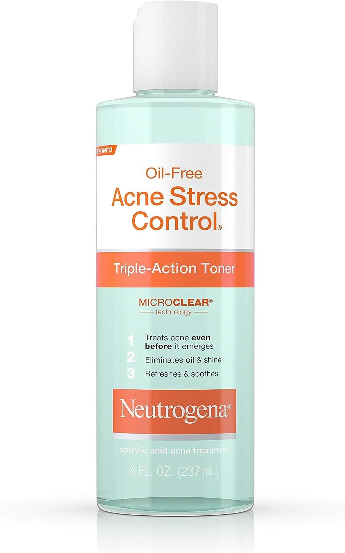 Neutrogena Oil-Free Acne Stress Control Triple-Action Toner, 8 Fl. Oz