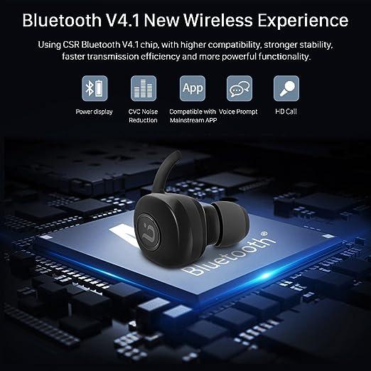 Auriculares inalámbricos Bluetooth, Borofone BE8 Gemelos mini Auriculares Estéreo, Construido en HD Micrófono Cancelación de ruido 60 * 2 mAh Duración de la ...
