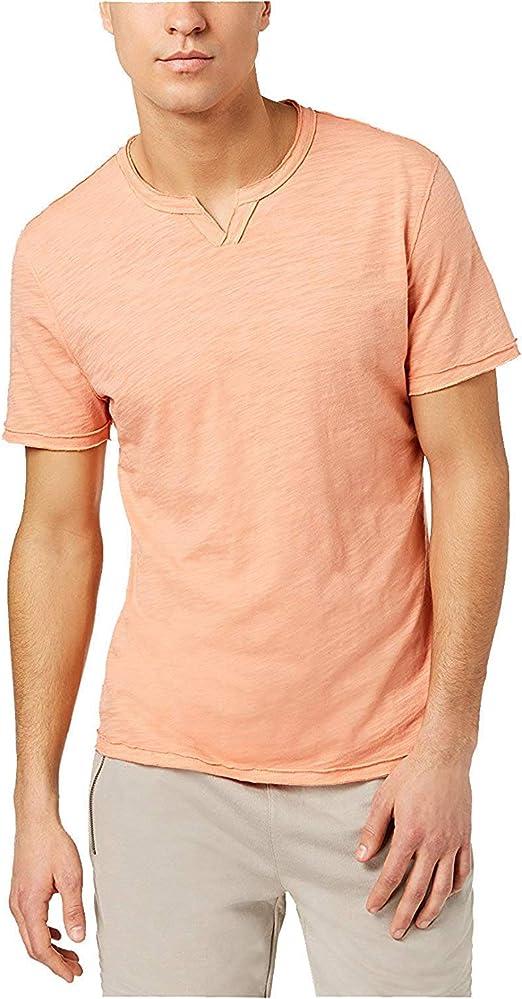INC International Concepts Mens Orange Striped Tank Top