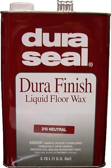 Captivating Dura Seal Durafinish Liquid Floor Wax   Neutral   Gallon