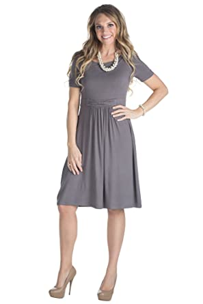 ff59d5484d10 Erin Modest Dress in Charcoal Gray or Grey, Modest Bridesmaid Dress - XL