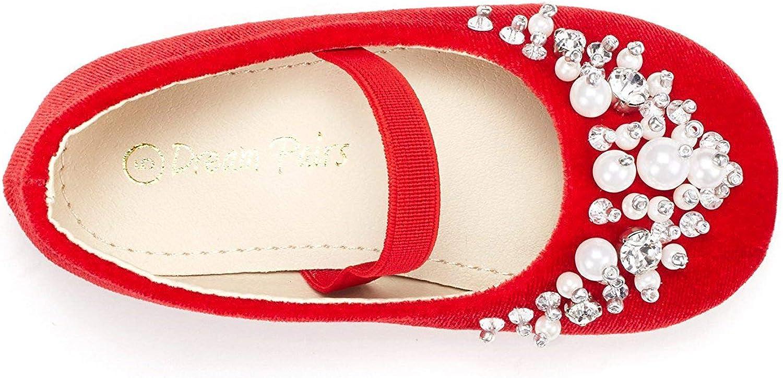 DREAM PAIRS Girls Toddler//Little Kid//Big Kid Aurora-03 Mary Jane Ballerina Flat Shoes