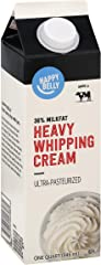 Amazon Brand - Happy Belly Heavy Whipping Cream, Ultra-Pasteurized, Kosher, Quart, 32 Fl Oz