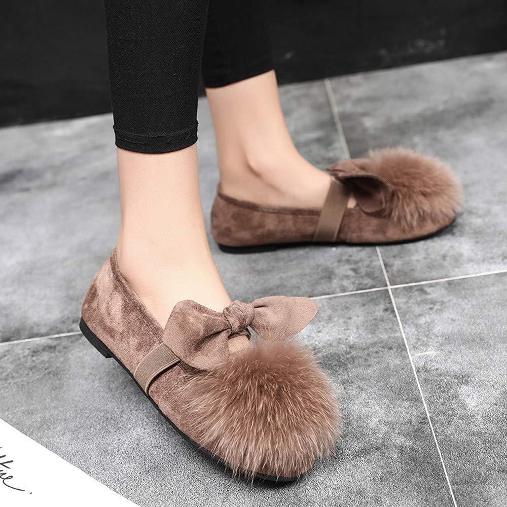 4Clovers - Zapatos planos para mujer con lazo plegable: Amazon.es ...