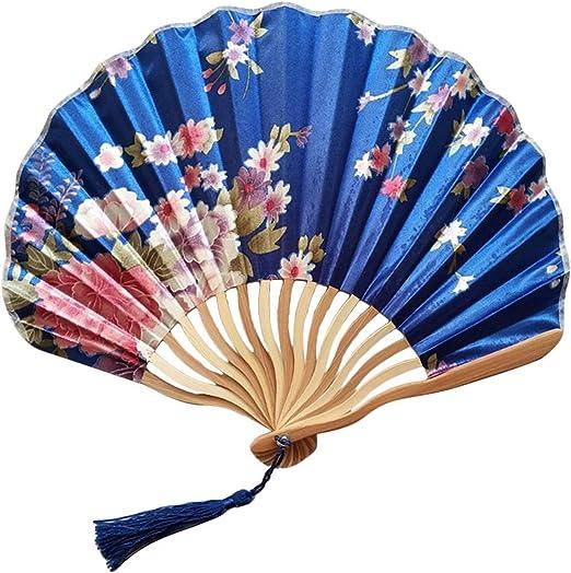 Unisex Chinese Style Hand Held Fan Bamboo Paper Folding Fan Party Wedding Decor