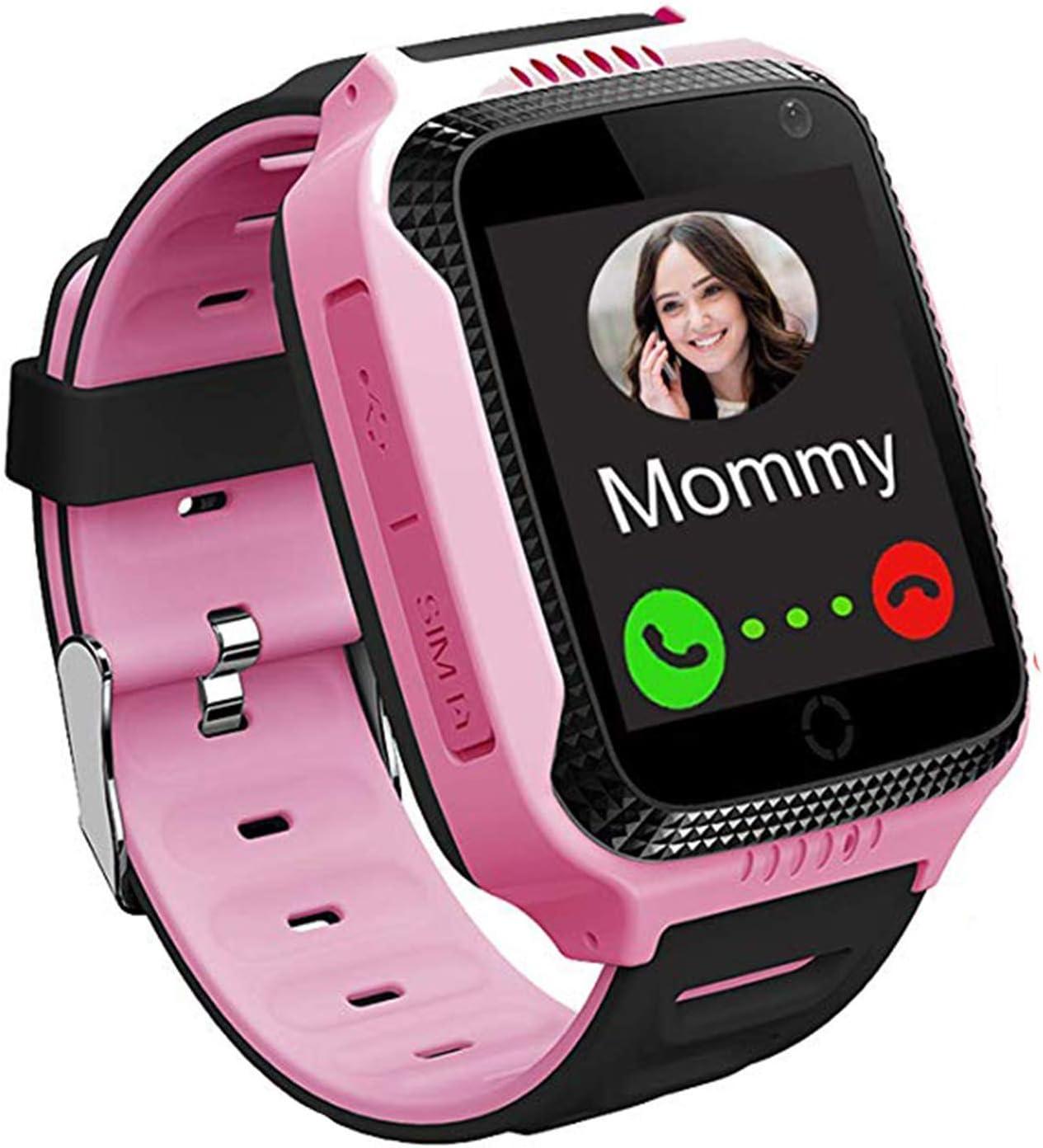 Winnes Smartwatch Niños, Reloj Inteligente para Niños con GPS, Hacer Llamadas, Chat de Voz, SOS, Cámara, Juegos para Niño niña de 3 a 12 años Compatible con iOS/Android (Rosa)