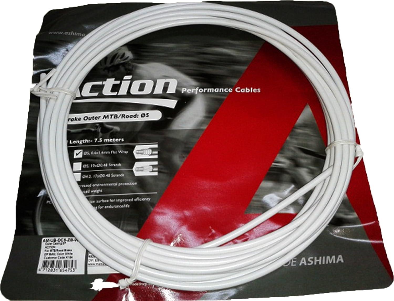 ONOGAL Funda Color Blanco para Cable de Freno de Bicicleta 7.5m ...