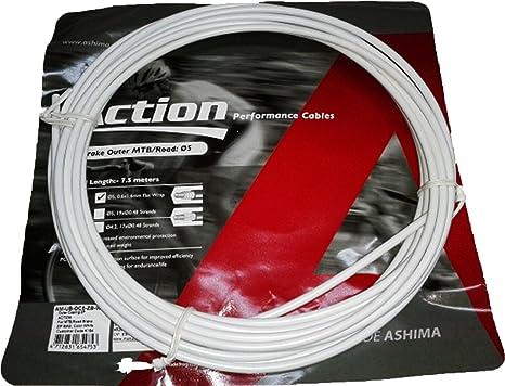 ONOGAL Funda Color Blanco para Cable de Freno de Bicicleta 7.5 ...