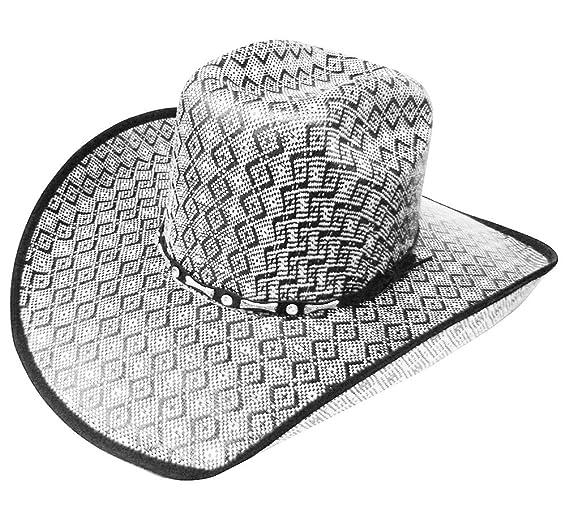 Modestone Traditional Bangora Rodeo Straw Sombrero Vaquero Grey  Amazon.es  Ropa  y accesorios 21a3297af38