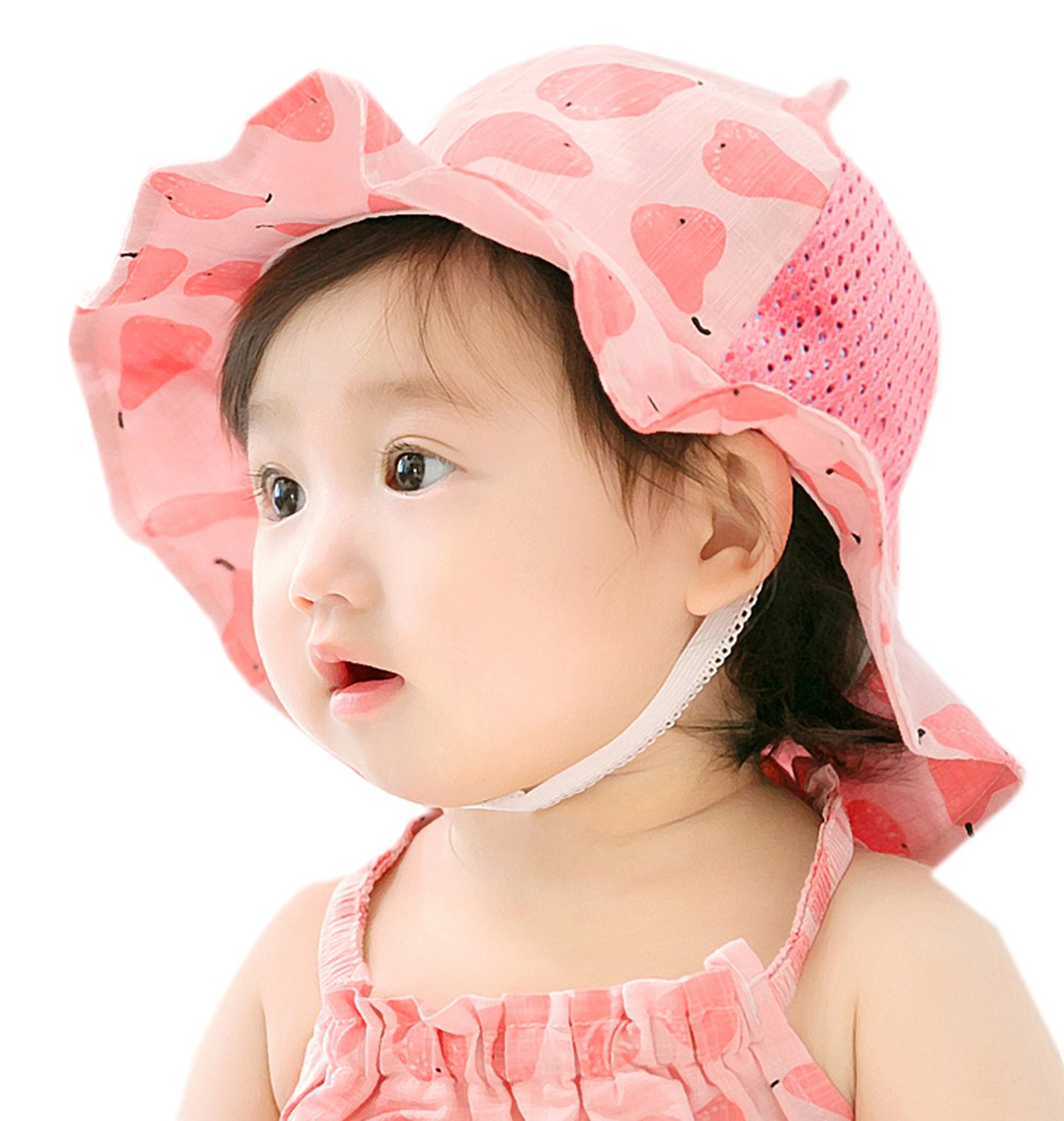 GZMM Baby Girls Sun Protection Hat Cotton Breathable Material UPF50+(6-12M) by GZMM (Image #6)