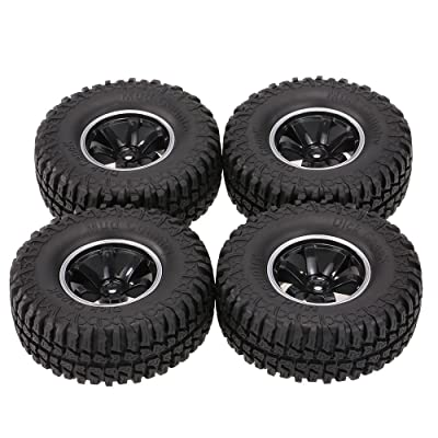 Goolsky 4Pcs AUSTAR AX-3020C 1.9 Inch 103mm 1/10 Scale Tires with Wheel Rim for 1/10 D90 SCX10 CC01 RC Rock Crawler: Toys & Games