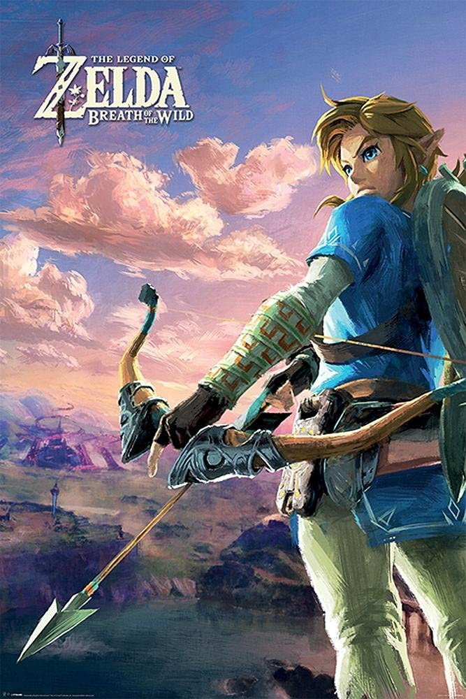 Póster The Legend of Zelda - Breath of the Wild (61cm x 91,5cm) + 1 póster sorpresa de regalo