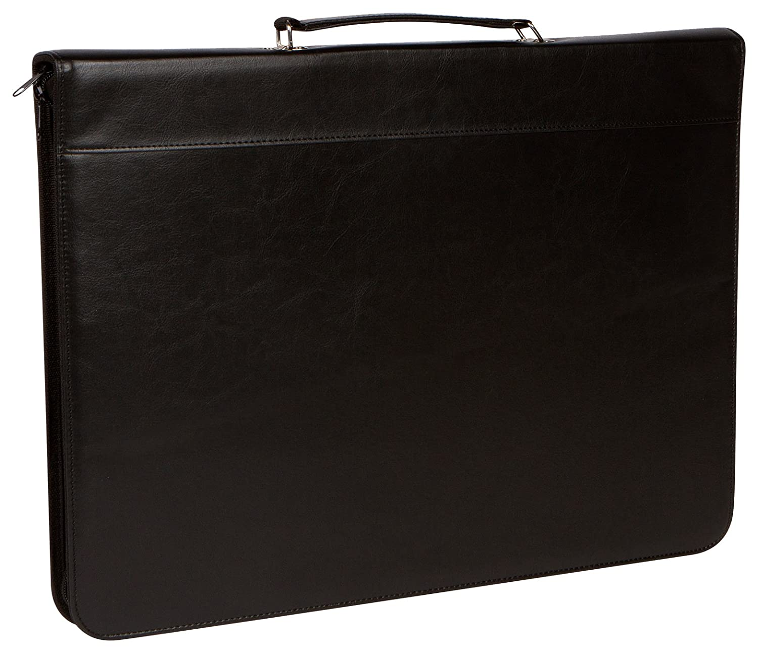 "17"" x 13"" Zippered Portfolio with Handle by Trademark Innovations PORTFOL-BL"