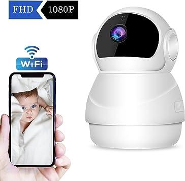 2019 Nueva Versión】 CHORTAU Cámara de Vigilancia WiFi Inalámbrica Cámara IP 1080P Full HD, Cámara de Seguridad con Sistema de Vigilancia, Visión Nocturna, Detección de Movimiento, P2P: Amazon.es: Electrónica