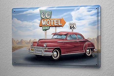 Amazon.com: Tin Sign Georg Huber retro nostálgico Deco Motel ...