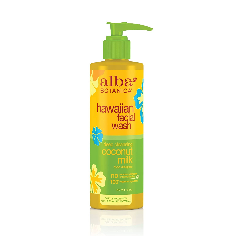 Alba Botanica Hawaiian Nourishing Face Wash, Coconut Milk, 8 Fl Oz 00804