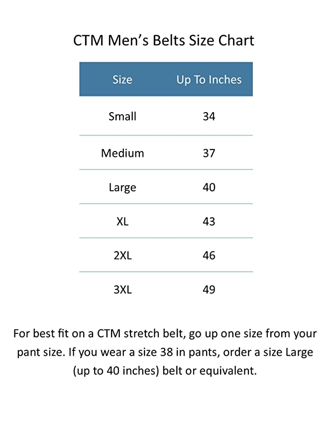 Ctm Mens Elastic Braided Belt With Covered Buckle Big Tall