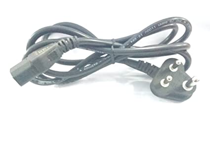 Ma 5A 10A 3 Pin Indian SMPS PC COMPUTER Power cord: Amazon.in ...