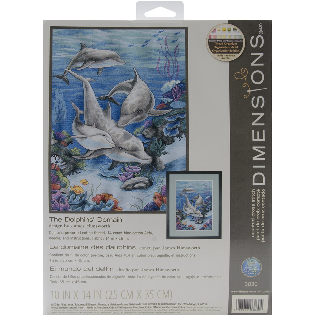 Dimensions 3830 The Dolphins Domain Counted Cross Stitch Kit ...