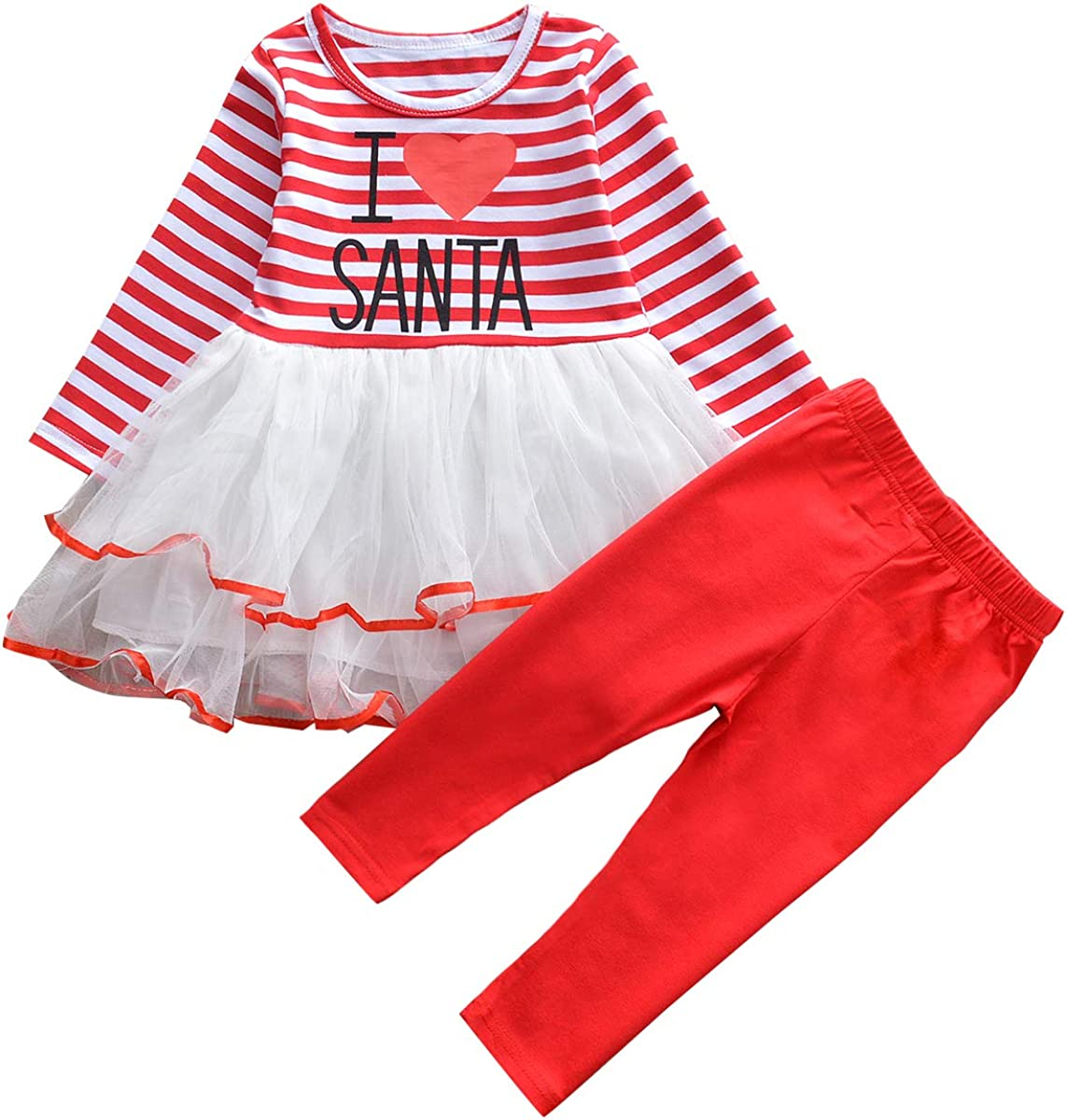 Cenhope Baby Girls Christmas Dress Red Black Plaid Long Sleeve Skirt Set with Bow Headband