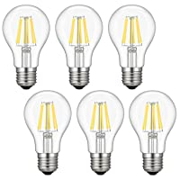 6-Packs Kohree 6W Vintage LED Filament Light Bulb HP341-HM