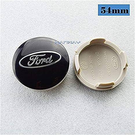 lijuan218 4 tapacubos para Ford Focus 2 Focus 3 Fiesta, Fusion Escape Edge con Logotipo