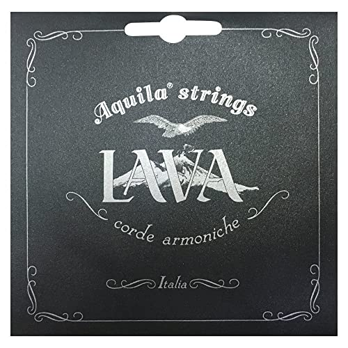 Aquila USA 115U Low G Tenor Uke Set - All Lava Nylgut