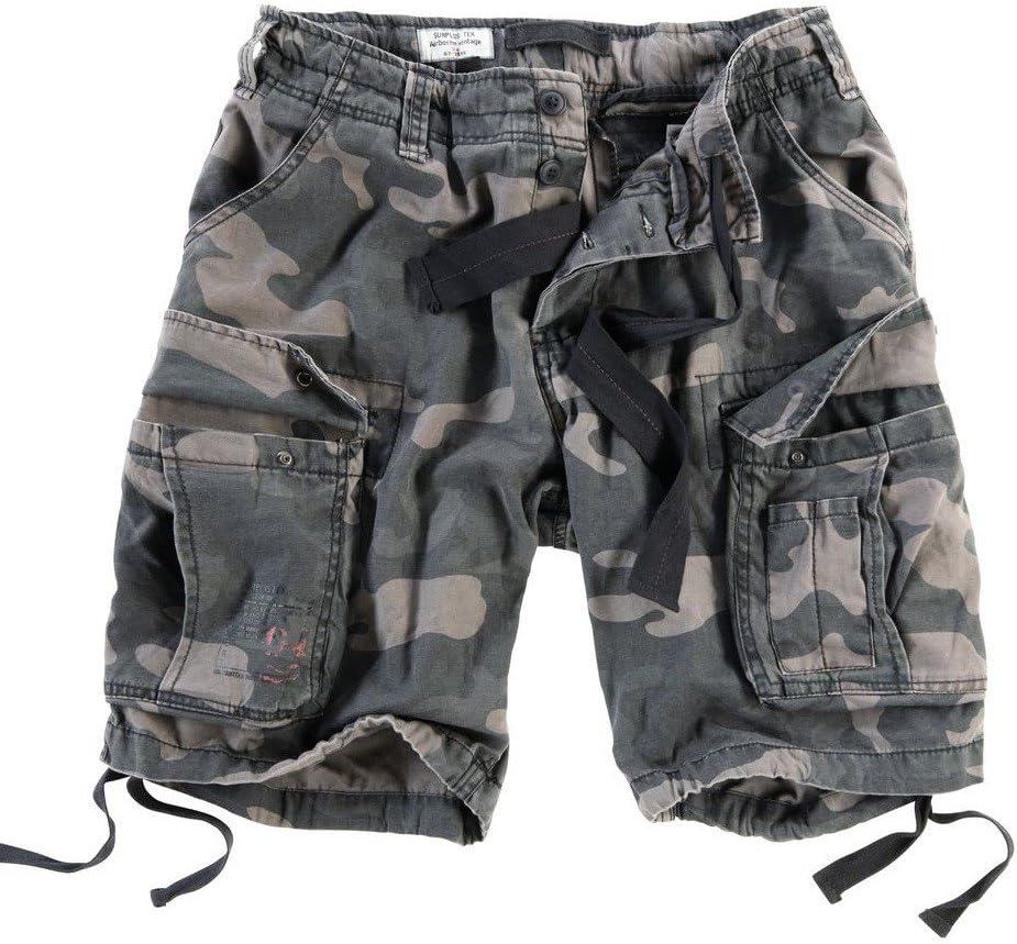 Surplus Uomo Airborne Vintage Pantaloncini Lavati Oliva