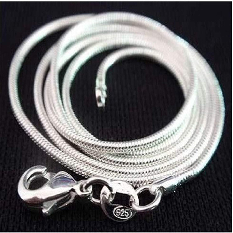 Silver Jewelry Snake Chain 1mmlace 16 18 20 22 24 Workings 925 Sterling silverlace Women