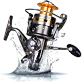 Sougayilang Baitfeeder Spinning Fishing Reel - Front and Rear Double Drag Brake System Reels - Great for Saltwater Freshwater Sea Bass Fishing