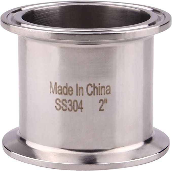 Stainless Steel Tube OD 2 51MM Tri Clover Sanitary Spool Tube with 64MM Ferrule Flange 24//610MM Length SS316