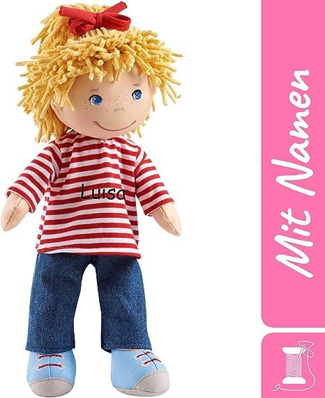Haba Puppe Conni Mit Namen Bestickt 30 Cm Weiche Erste Baby Stoffpuppe Mit Hübscher Kleidung 0 5 Jahre Kuschelpuppe Taufgeschenk Geschenk Zur