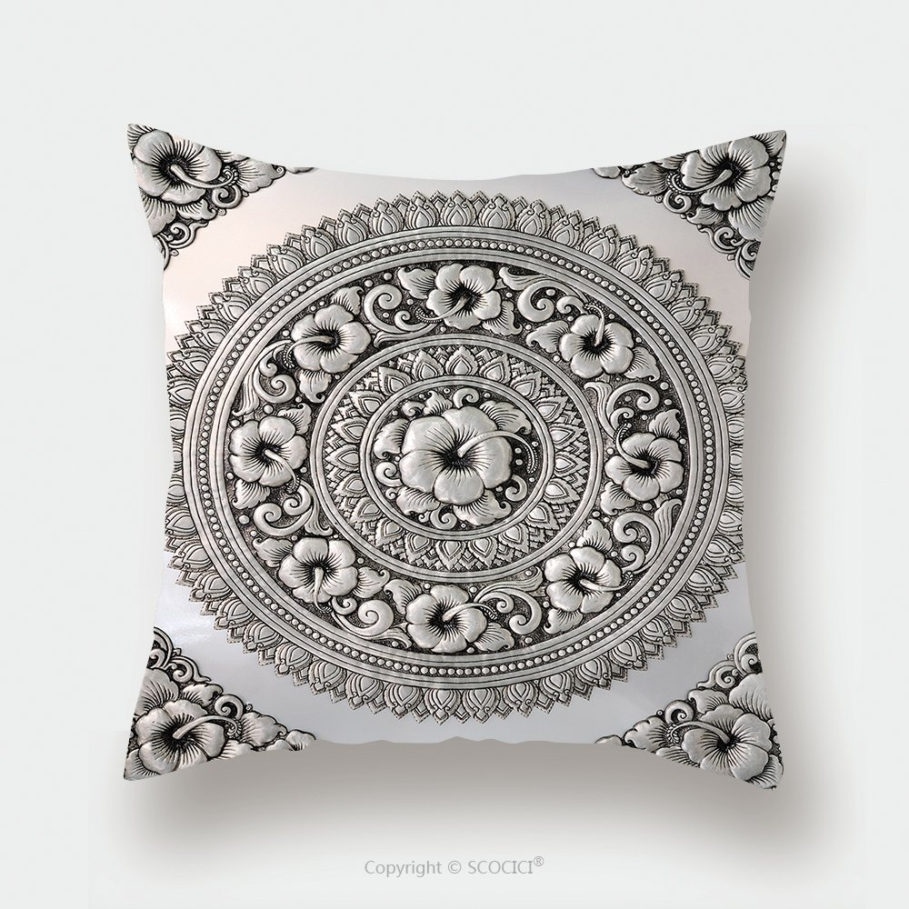 Custom Satin Pillowcase Protector Silver Lacquer Show Flower Art Balance Global Crafts Thai Artists Place In Chiang Mai Thailand 66038983 Pillow Case Covers Decorative by chaoran