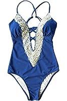 Cupshe Fashion Women's Ladies Vintage Lace Bikini Sets Beach Swimwear Bathing Suit