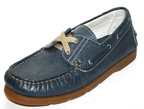Cherie - Mocasines de Piel para niño Azul azul 31, color Azul, talla 31: Amazon.es: Zapatos y complementos