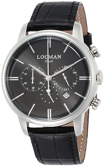 Locman 1960 Dolce Vita orologio uomo quadrante nero