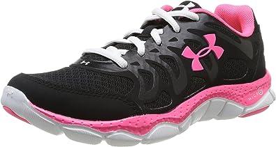 Under Armour Micro G Engage - Zapatillas de running para mujer, negro - Schwarz (003 blk/wht/neo pulse), 36: Amazon.es: Zapatos y complementos