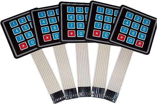 TOOGOO(R) 5 piezas 4x3 Matrix Array 12 Key Membrana Switch ...