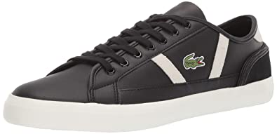 eb0078025 Lacoste Men s Sideline Sneaker Black Off White 7 Medium US