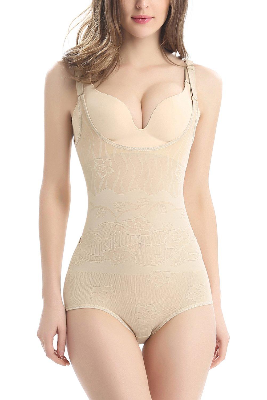 8fa39f8d5e7c5 AMAGGIGO Amenxi Shapewear Underwear Waist Butt Shaper Open Bust Shapewear  Firm Control Bodysuit for Women product