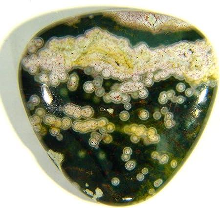 Ocean jasper free form natural blue green orbicular jasper crystal stone