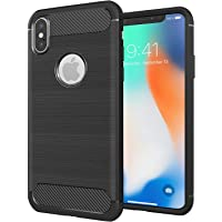"RKINC for Apple iPhone Xs MAX 6.5"" 2018 Case, Reinforced Corners Carbon Fiber Rugged Armor Shockproof TPU Cover Case for iPhone Xs Max 6.5 inch"