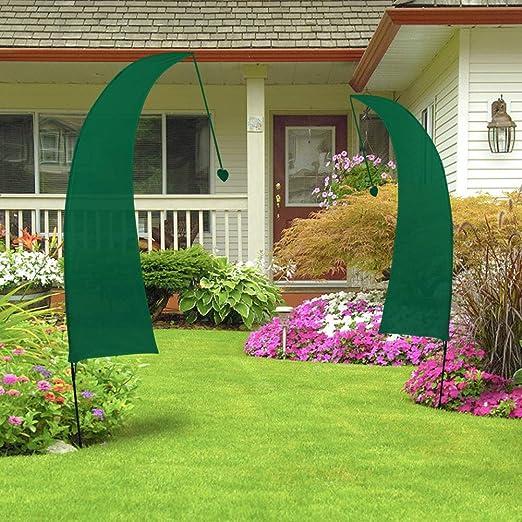 8ft Bandera del Verde Jardín, wooper Feather Flag, para Playa, Forecourt, Césped, Decoraciones de Jardín, Fiesta de Cumpleaños, Patio Parque Infantil, Evento Deportivo(Incluido Asta para Bandera) : Amazon.es: Jardín