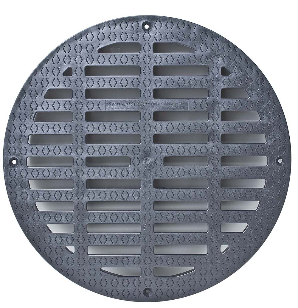 Storm Drain FSD-3017-GEB 12 Flat Grate for Catch Basin Fernco