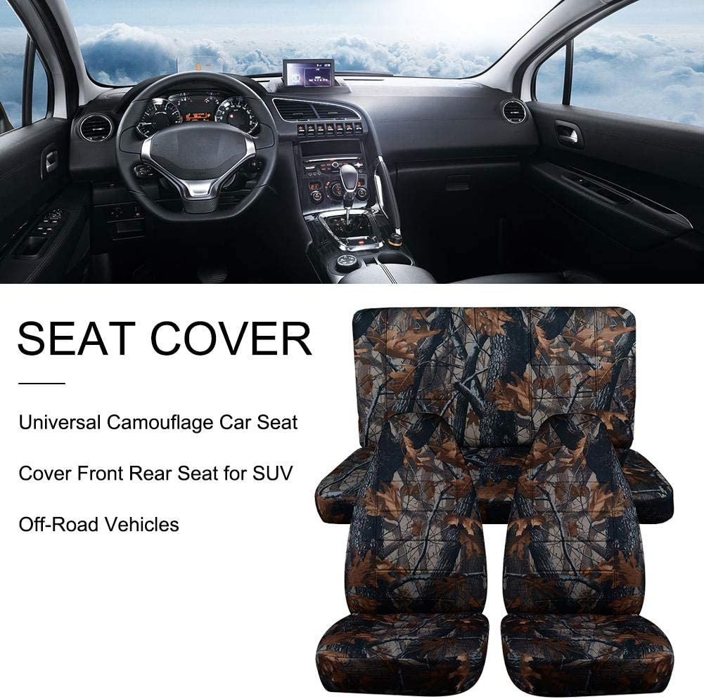 Jeep SUV - Offroad-Gef/ühle domiluoyoyo Camouflage-Autositz Pickup Universeller Vordersitz und R/ücksitz f/ür 98 kleine Fahrzeuge Truck usw