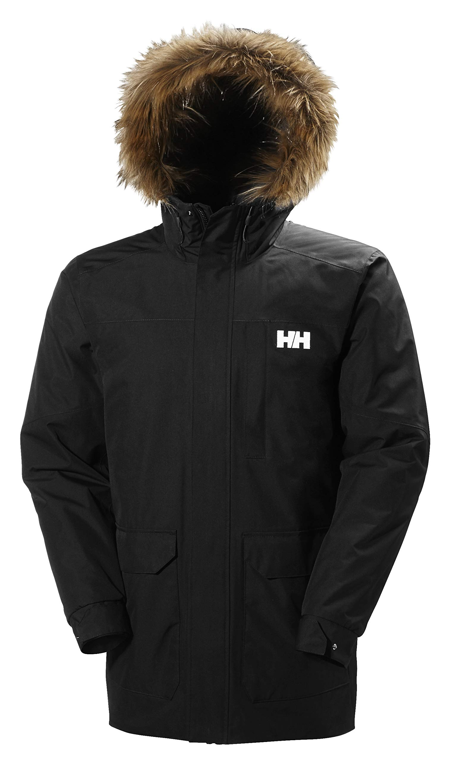 Helly Hansen Men's Dubliner Parka 100 Gram Primaloft Insulated Waterproof Windproof Breathable Rain Coat with Hood, 990 Black, 2X-Large by Helly Hansen